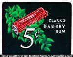 Clark's Teaberry Gum Original Art Sign