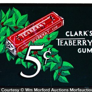 Clark's Teaberry Gum Original Art Sign