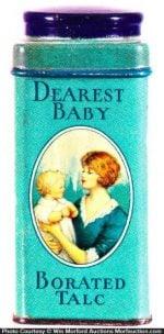 Dearest Baby Talc Tin