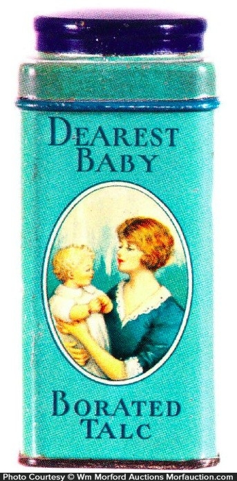 Dearest Baby Talc Tin