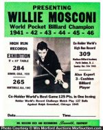 Willie Mosconi Billiard Poster