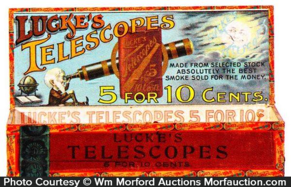 Lucke's Telescopes Cigar Box