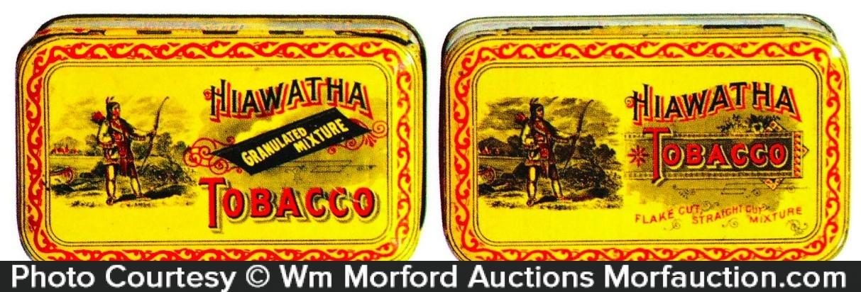 Hiawatha Tobacco Tins