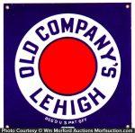 Old Company's Lehigh Coal Sign