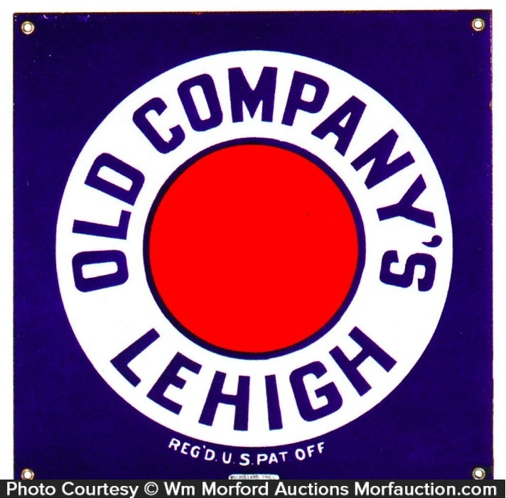 Old Company's Lehigh Coal Sign