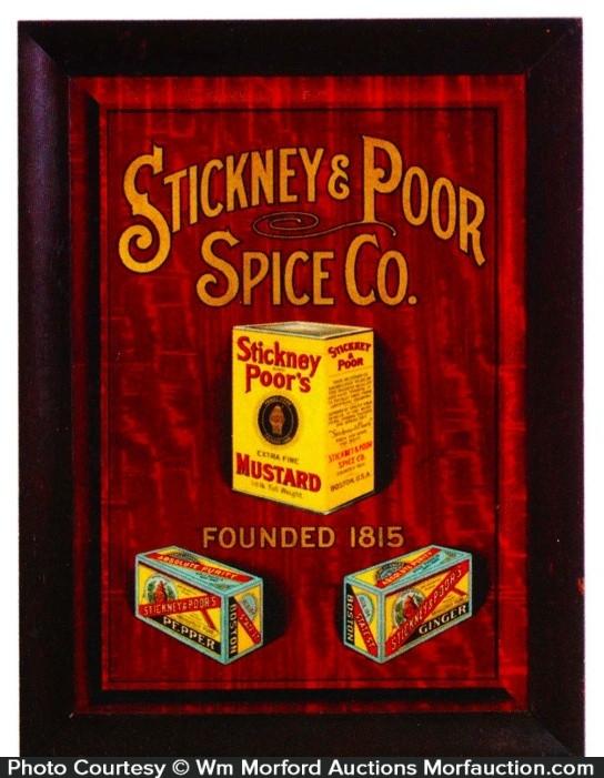 Stickney & Poor Spice Sign