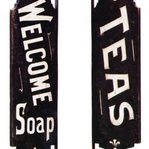 Welcome Soap Sign