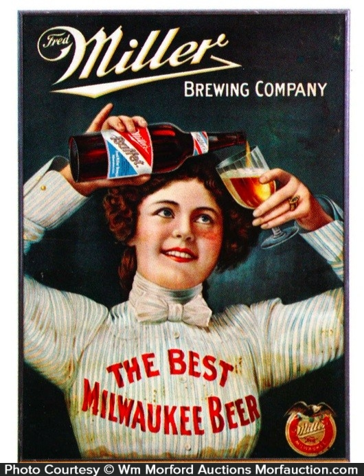 Miller Milwaukee Beer Sign