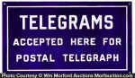 Telegrams Accepted Here Sign