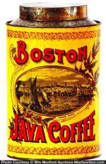 Boston Java Coffee Can