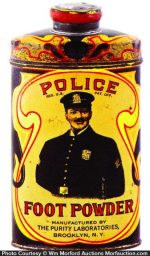 Police Foot Powder Tin