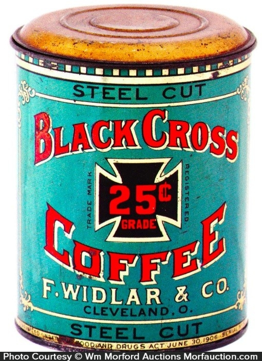 Black Cross Coffee Can