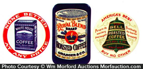 Vintage Coffee Pocket Mirrors