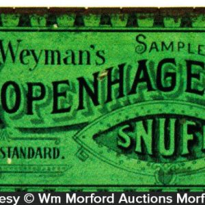 Copenhagen Snuff Tin Sample