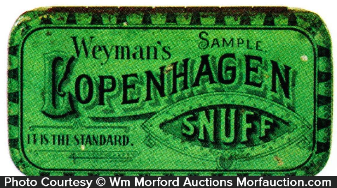 Copenhagen Snuff Tin Sample
