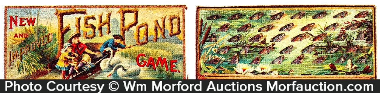 Antique advertising fish pond game antique advertising for Fish pond game