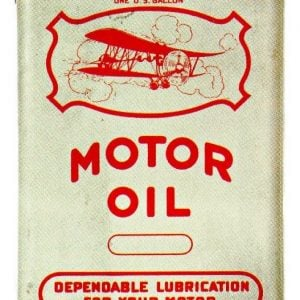 Airplane Motor Oil Tin