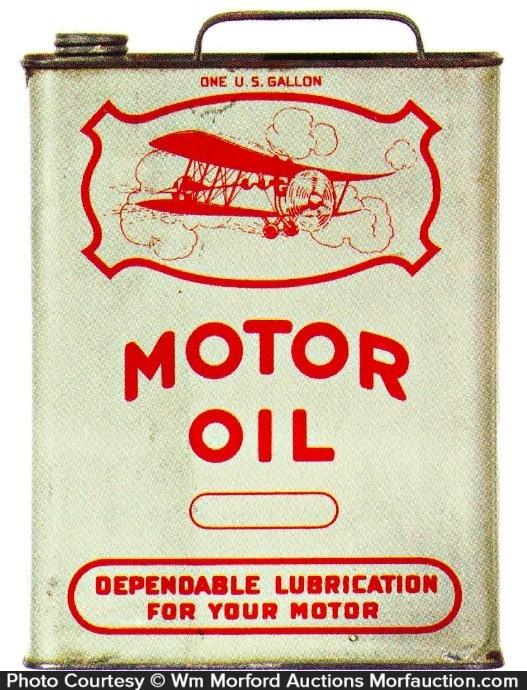 Airplane Motor Oil Tin