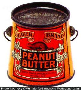 Beaver Peanut Butter Pail