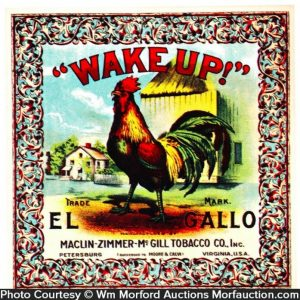 Wake-Up Tobacco Label