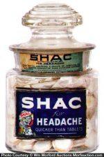 Shac Headache Tablets Jar