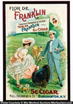 Flor De Franklin Cigar Sign