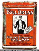 Full Dress Tobacco Tin Sample