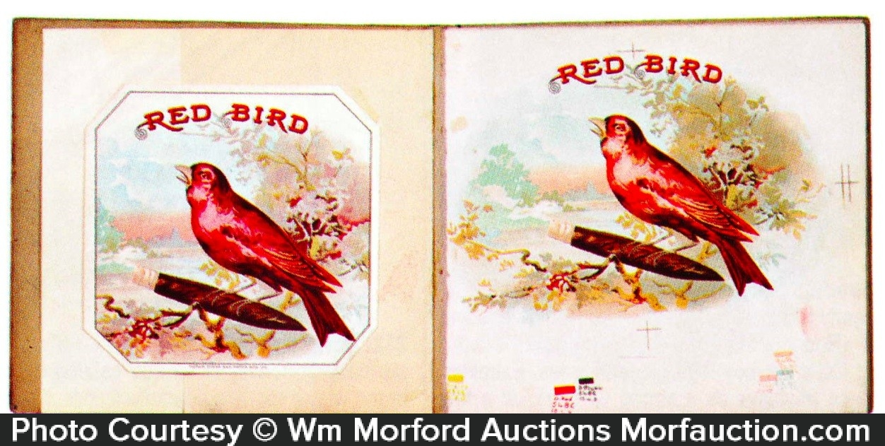 Red Bird Cigar Labels Proof Book
