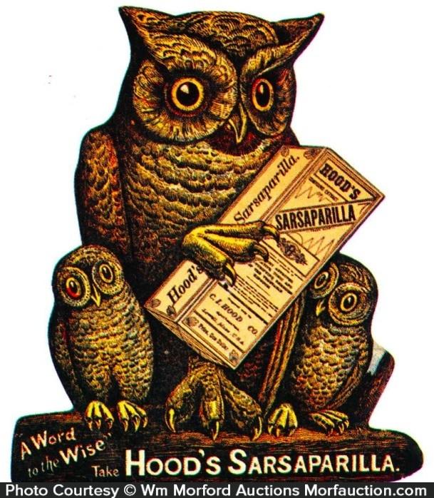 Hood's Sarsaparilla Sign