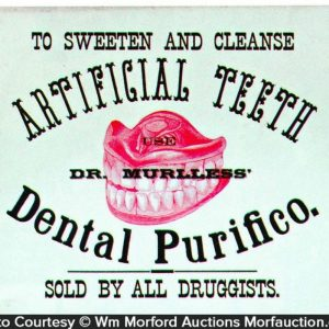 Dental Purifico Artificial Teeth Sign
