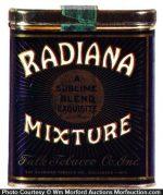 Radiana Mixture Tobacco Tin