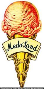 Medo-Land Ice Cream Sign