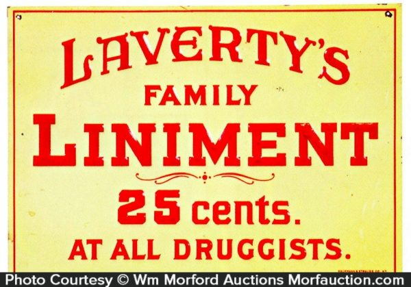 Laverty's Liniment Sign