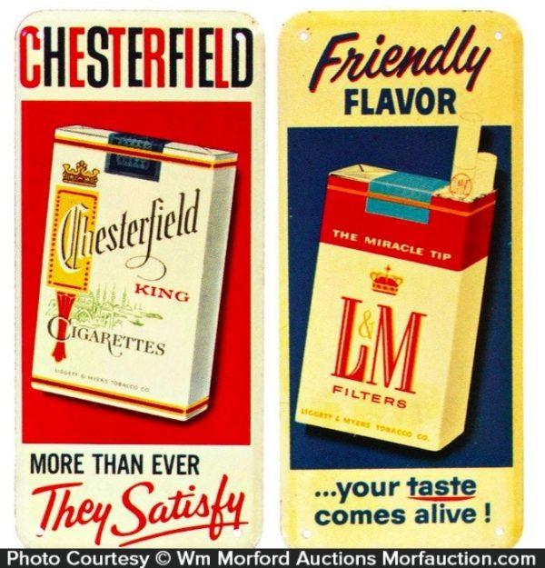 Vintage Cigarette Door Pushes
