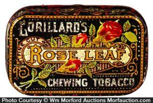 Rose Leaf Tobacco Tin