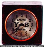 Y-B Cigars Clock