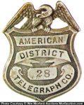 American District Telegraph Badge