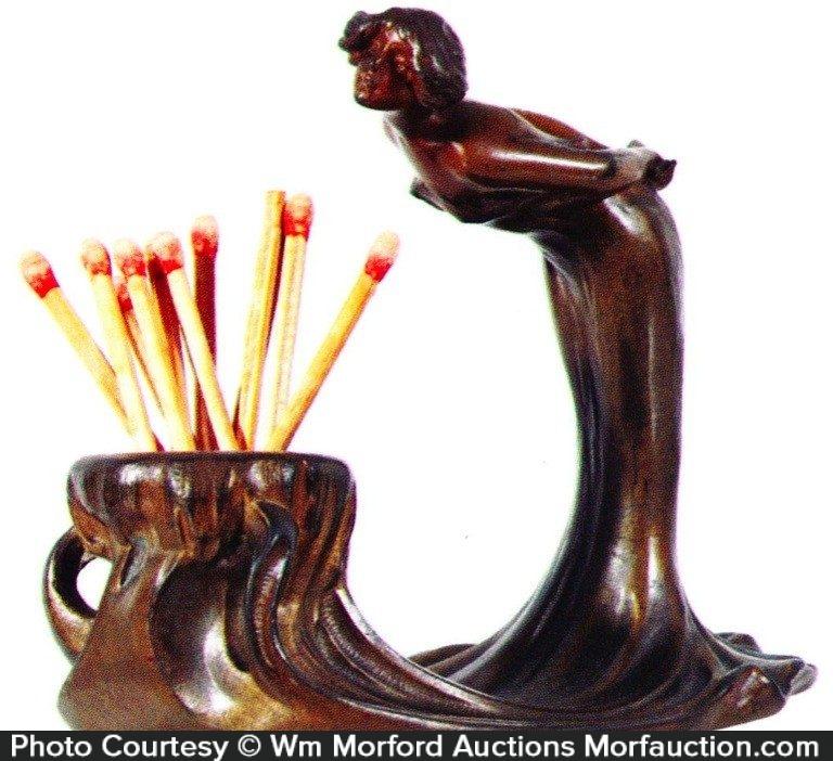 Art Nouveau Match Holder