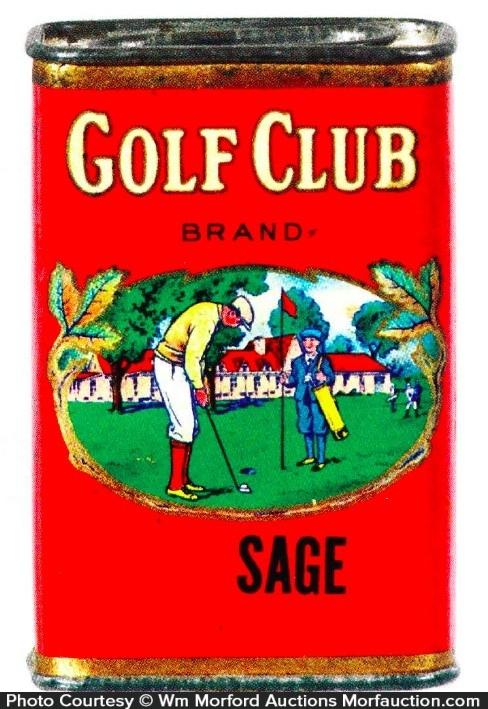 Golf Club Spice Tin