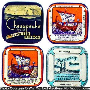 Ship Themed Ribbon Tins