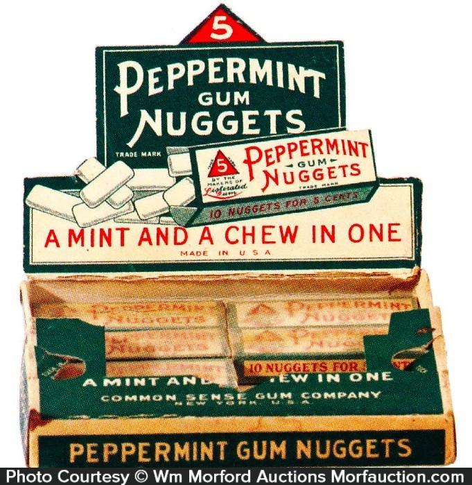 Peppermint Gum Nuggets Box