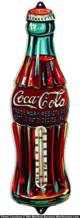 Coke Christmas Bottle Thermometer
