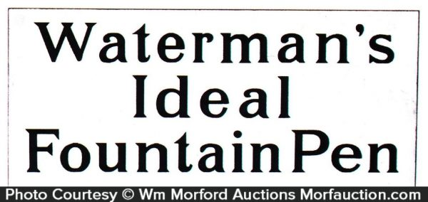 Waterman's Ideal Pens Sign