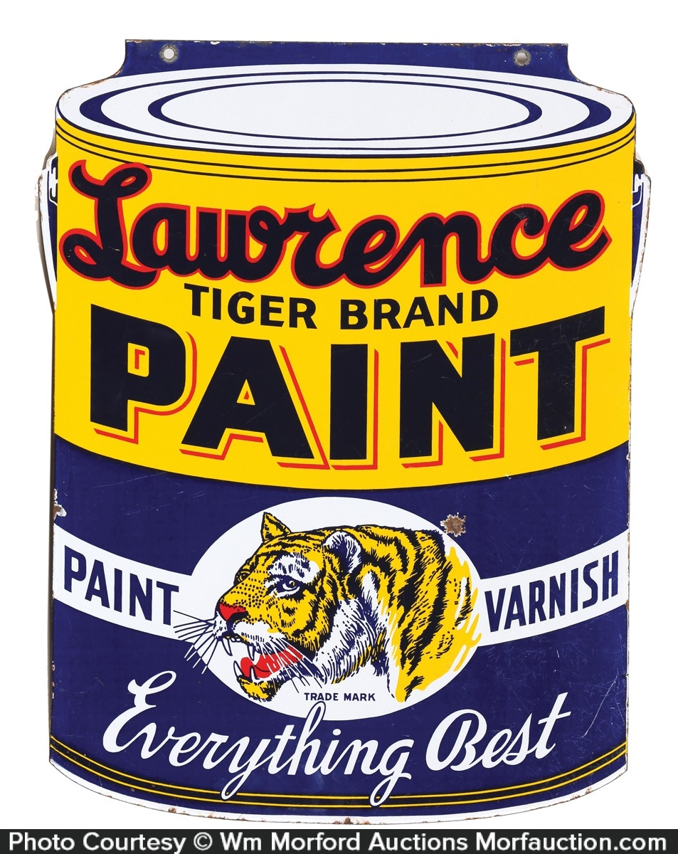 Lawrence Tiger Paint Sign