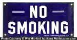 Porcelain No Smoking Sign