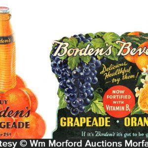 Bordens Fruit Beverage Signs
