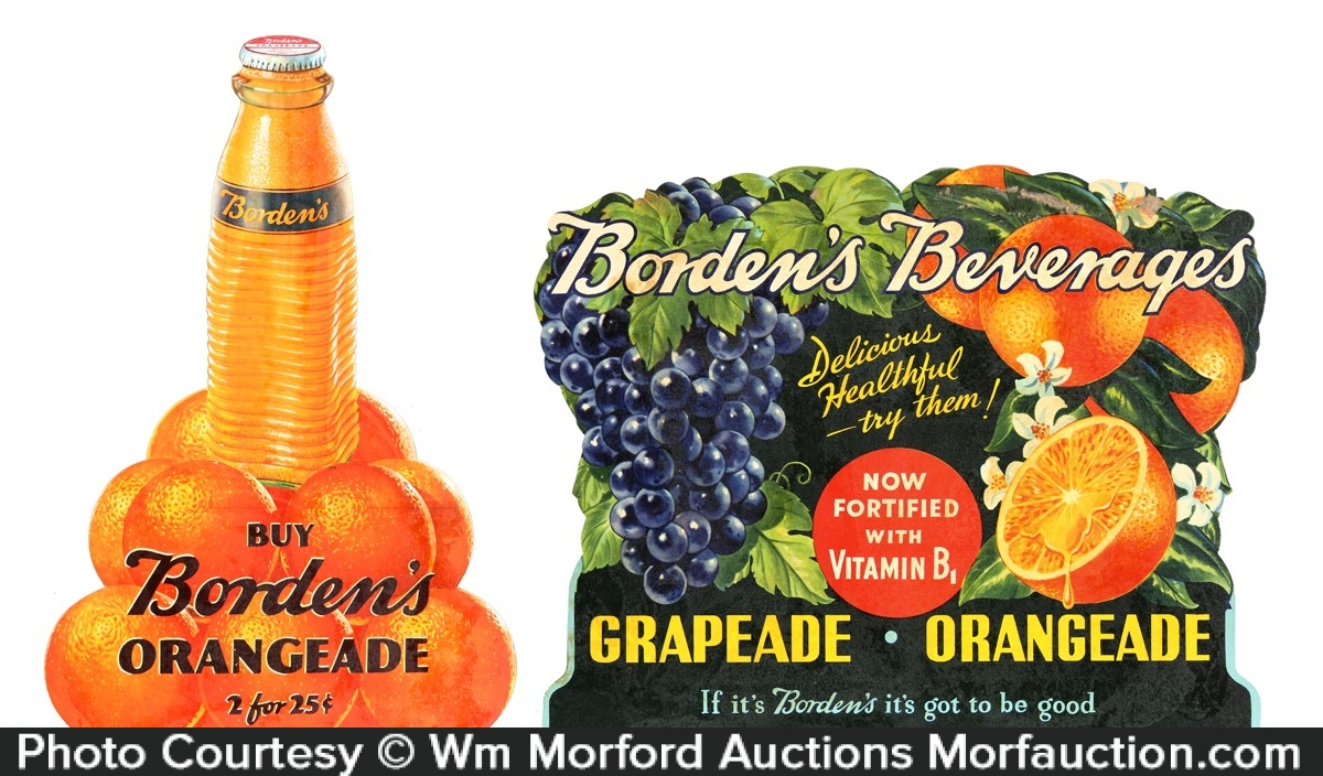Bordens Fruit Beverage Signs