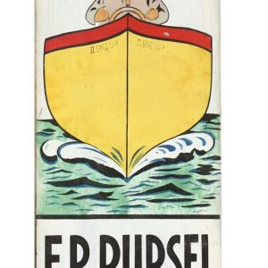 Pursel Folk Art Boat Sign