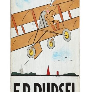 Pursel Folk Art Plane Sign