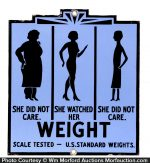 Porcelain Weight Loss Sign